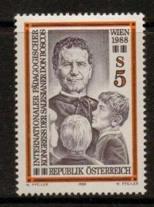 AUSTRIA SG2151 1987 INT EDUCATIONAL CONGRESS  MNH