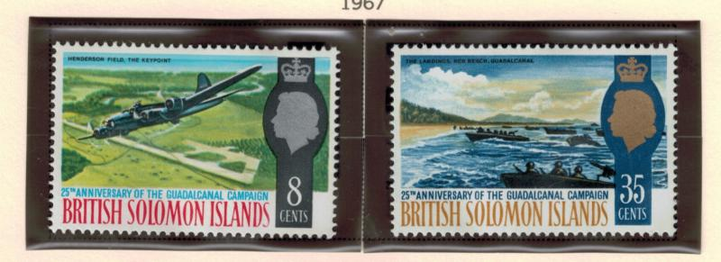 British Solomon Islands Stamps Scott #174-5, Mint Hinged - Free U.S. Shipping...
