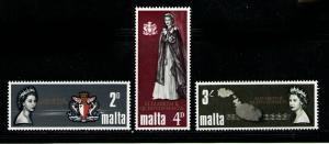 MALTA 1967 MNH SC.378/380 Visit Elisabeth II