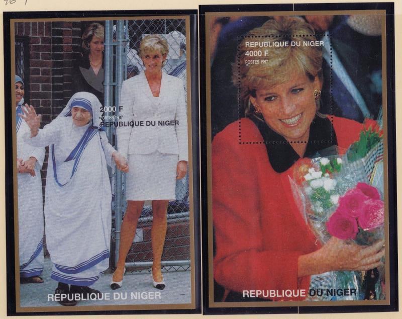 NIGER MNH Scott # 946-947 Princess Di & Mother Teresa (2 Stamps) -2