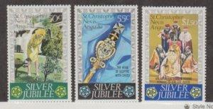 St. Kitts-Nevis Scott #332-333-334 Stamps - Mint NH Set