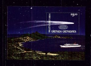 Grenada-Grenadines 748 MNH 1986 Halleys Comet S/S