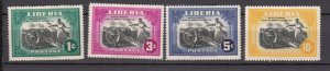 J27504 1947 liberia set mh #301-4 cannons