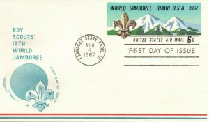 US FDC #UXC7 Boy Scouts, House Of Farnam (7893)