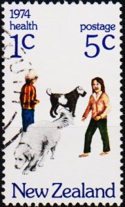 New Zealand. 1974 5c+1c S.G.1056 Fine Used