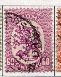 Finland 1917  Early Issue Fine Used 60p. 151636