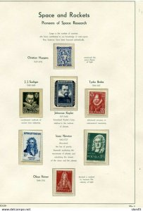 Space & Rockets Worldwide Collection MNH on Lighthouse Hingeless 7 pages 11458