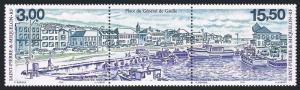 St Pierre & Miquelon 684-685a,MNH. Gen.de Gaulle Place,1999.Cars,docked boats