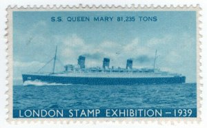 (I.B) Cinderella : Harrison & Sons - Stamp Exhibition 1939 (SS Queen Mary)