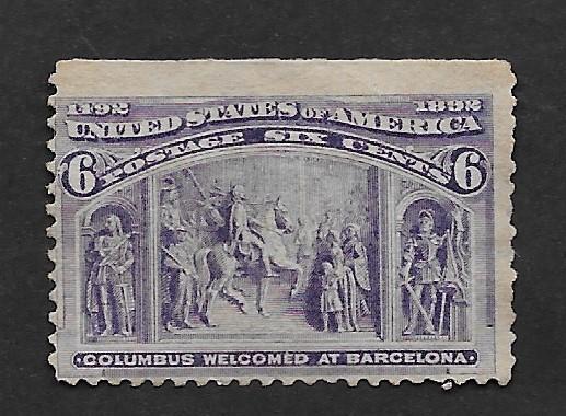 U.S. Vintage Stamps SC#235 F Unused CV$55