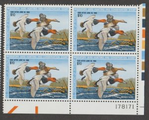 U.S. Scott #RW54 Duck Stamp - Mint NH Plate Block