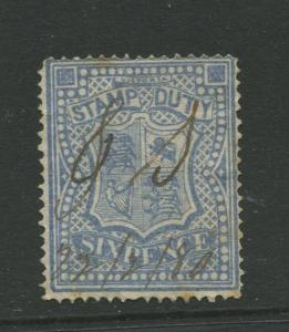STAMP STATION PERTH: Australia Victoria #? Used 1879? Single 6p Stamp