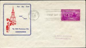 #798-45 FIRST FIDELITY FDC CACHET BN2840