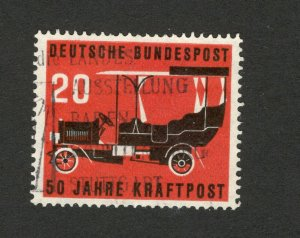 GERMANY - USED STAMP -  50th ANNIVERSARY OF POSTAL MOTOR TRANSPORT ISSUE - 1955.