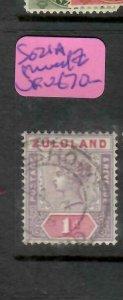 ZULULAND  (P2305B)  QV  1D  SG 21A  SHAVED Z     VFU