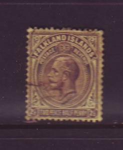 Falkland Islands Sc 45 1923 2 1/2d G V stamp used