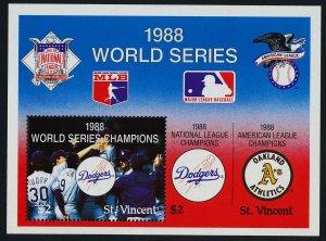 St Vincent 1183 MNH Baseball, World series, Sports