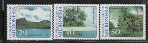 MICRONESIA, 187-189 MNH, TOURIST ATTRACTION