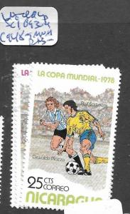 NICARAGUA  (PP1804B) WORLD CUP FOOTBALL SC 1093-4, C948-9  MNH