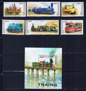 Guinea 1354-60 NH 1996 Trains set