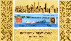 SAMOA 343 MNH S/S SCV $3.00 BIN #2.00 STAMP /STAMP