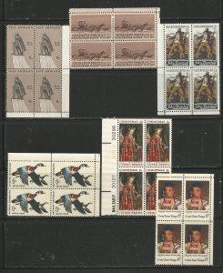 USA Stamps #1359,1360,1361,1362,1363,1364 Blocks of 4