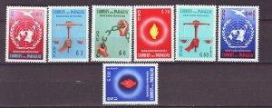 J22157 Jlstamps 1960 paraguay set mnh #565-8,c269-71 designs