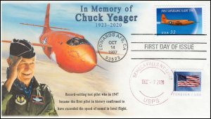 20-299, 2020, Chuck Yeager Memorial Cover, Event Cover, Local Postmark, Seneca