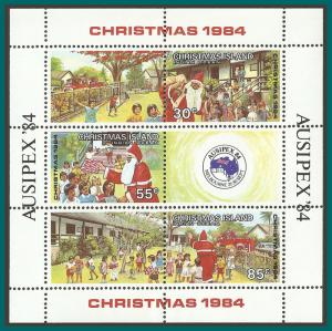 Christmas Island 1984 Christmas MS, MNH  #161,SGMS194