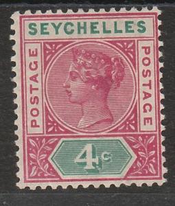 SEYCHELLES 1890 QV 4C DIE I