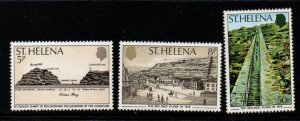 St Helena Sc 332-34 1979 Inclined Plane stamp set mint NH