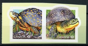 Canada 2019 MNH Endanged Turtles Spotted Turtle 2v S/A Set Reptiles Stamps