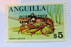 1968 Anguilla  SC #67 Caribbean SPINY LOBSTER MNH stamp