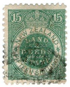 (I.B) New Zealand Revenue : Land & Deeds 15/-
