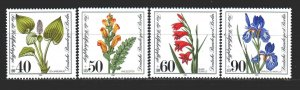 West Berlin. 1981. 650-53. Endangered plant species, flowers. MNH.