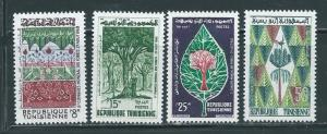 Tunisia 378-81 1960 Forestry Congress set NH