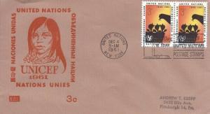 UN #97 3c UNICEF 1961 - Kolor Kover