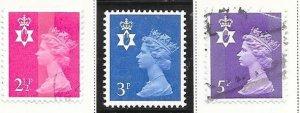 Great Britain-Northern Ireland #NIm1,2&5  (MNH&U) $1.05