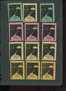 VINTAGE LOT OF 12 1931 MAGIC Poster Stamps SOCIETY OF AMERICAN (L1122)