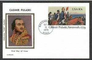 US # UX79 General Casimir Pulaski Colorano Silk FD Postal Card - I Combine S/H