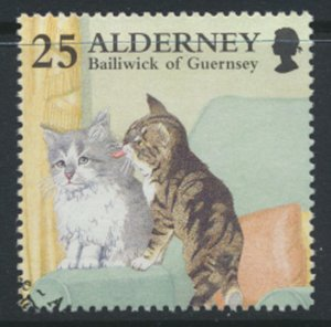 Alderney  SG A91  SC# 94  Cats   Used First Day Cancel - as per scan
