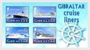 2005    GIBRALTAR  -  SG.MS1138  -  CRUISE SHIPS  -  MINI SHEET UNMOUNTED MINT