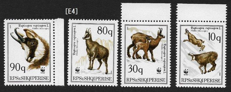 [E4]Albania 1990-She-goats, MiNr. 2423-2426; GimNr. 2575-2578,  MNH