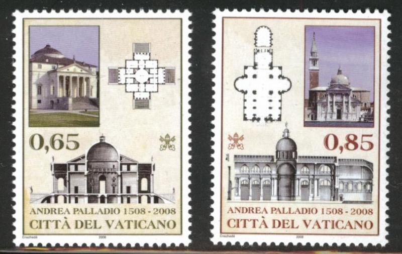 Vatican City Scott 1396-1397  MNH** 2008 stamp set