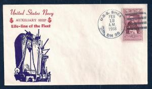 US NAVAL COVER USS Shea DM30 Cacheted 1958