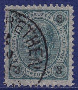 Austria - 1890 - Scott #53 - used - Franz Josef - perf 11 1/2