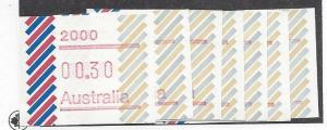 Australia,N/L,Australian Postage Labels 1984 Singles,**MNG**