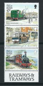 Isle of Man MUH SG 374, 367c, 377a   se-tent triple 1988 ...