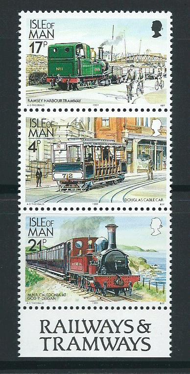 Isle of Man MUH SG 374, 367c, 377a   se-tent triple 1988 ...