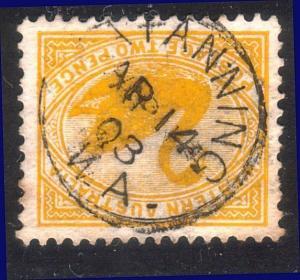 WESTERN AUSTRALIA 1903 KATANNING cds on 2d swan............................10030
